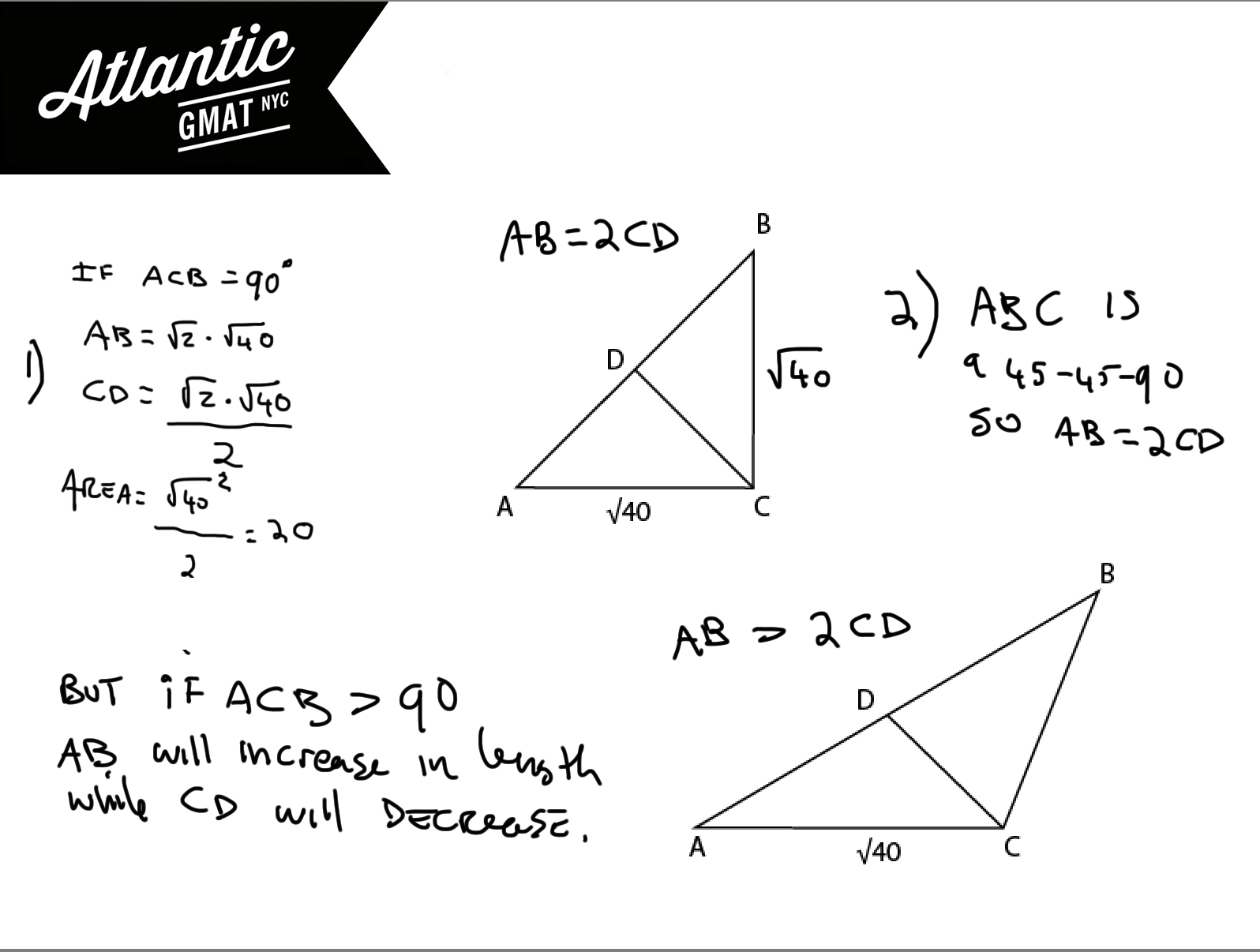 GMAT Question of the Day DS Geometry – 45 45 90 Triangle Worksheet