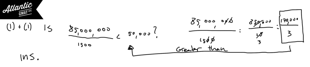 GMAT Question of the Day Data Sufficiency Ratio Weighted Average Diagram 3