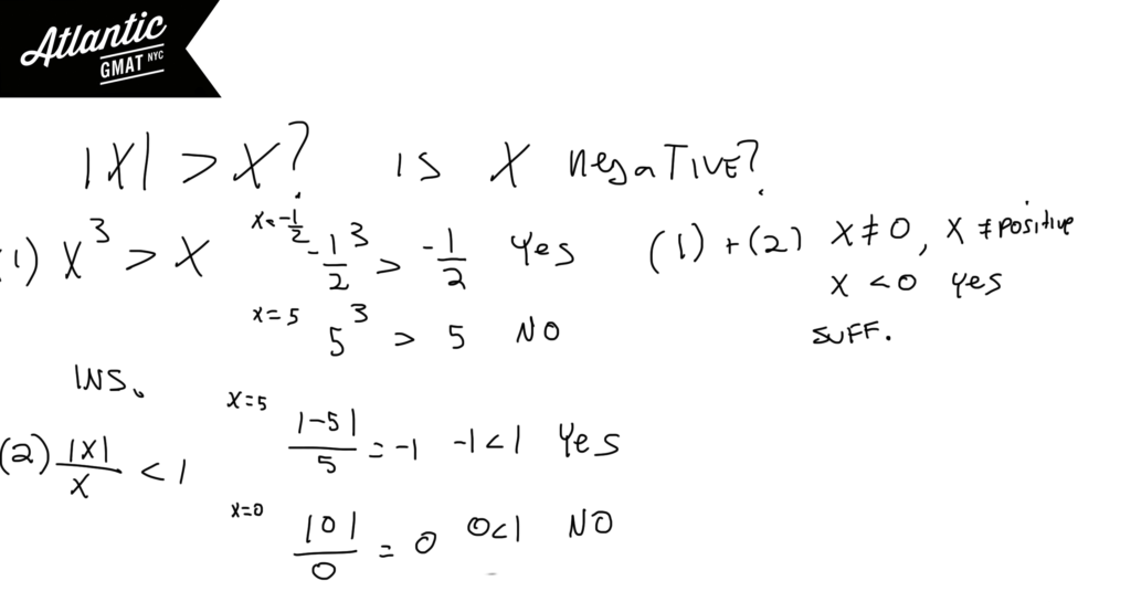 GMAT Question of the Day Absolute Value Number Properties Solution Diagram