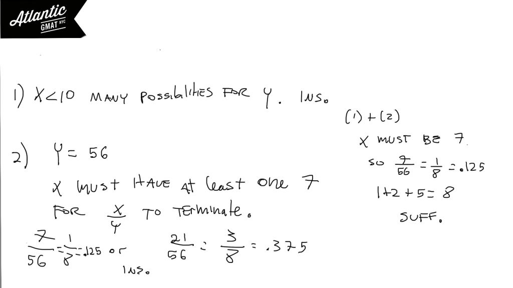 GMAT Question of the Day Number Properties Arithmetic Solution Diagram
