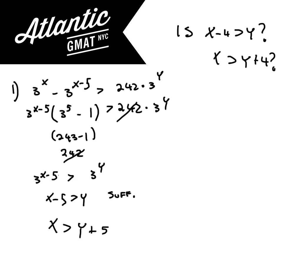 GMAT Question of the Day Exponents Solution