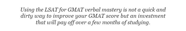 Using the LSAT for GMAT is challenging Quote
