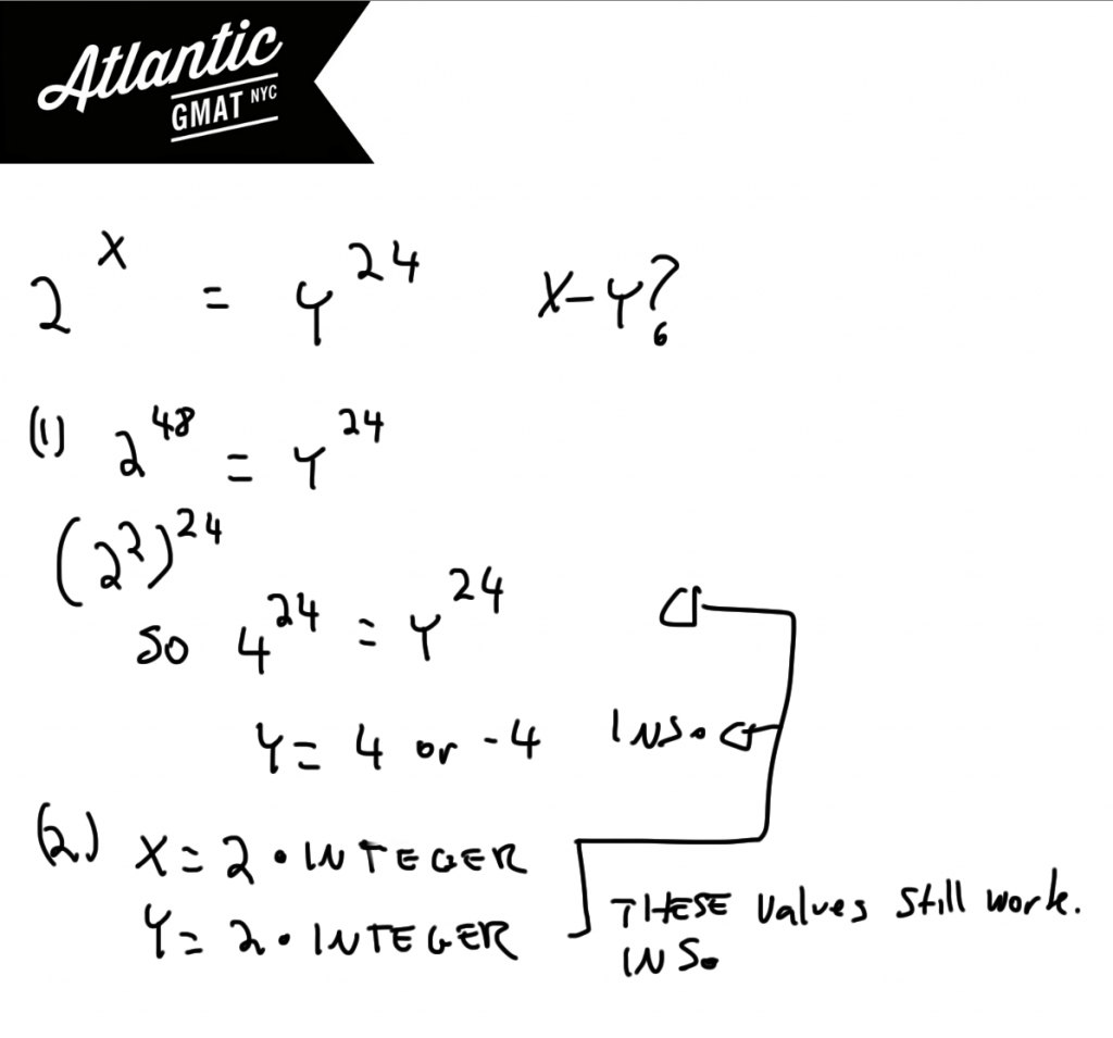 GMAT Question of the Day Exponents Solution Diagram