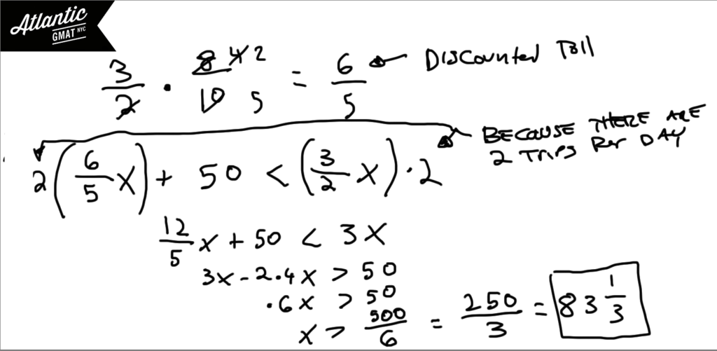 GMAT Question of the Day Word Problem Solution Diagram