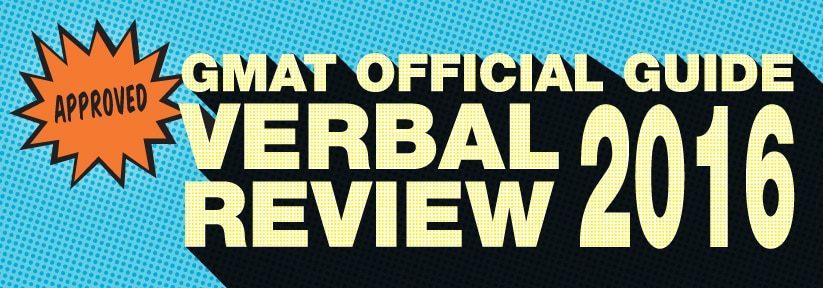 GMAT Verbal Review 2016