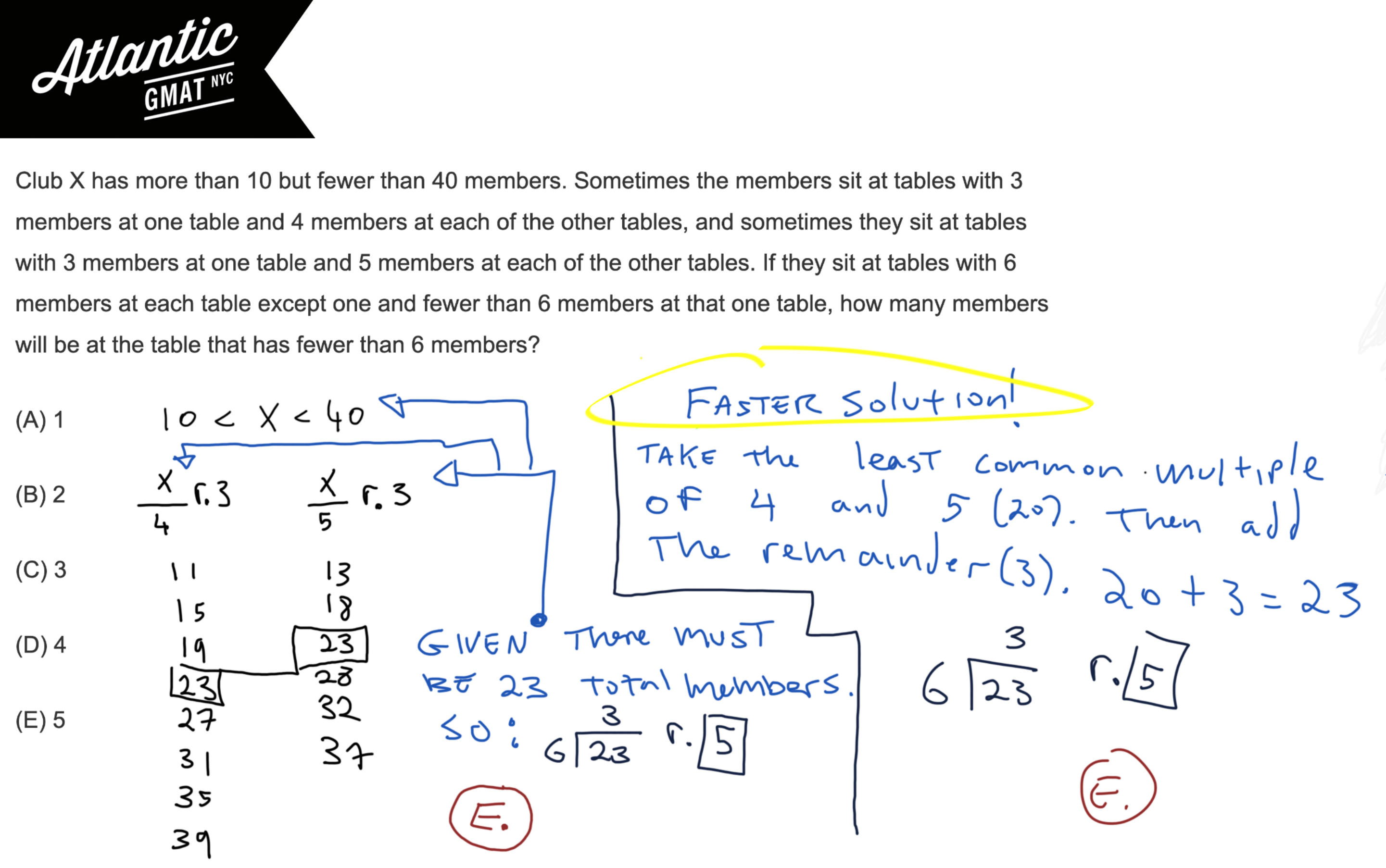 Club X has more than 10 but fewer than 40 members GMAT Explanation Diagram